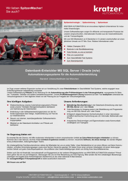 Datenbank-Entwickler MS SQL Server / Oracle (m/w)