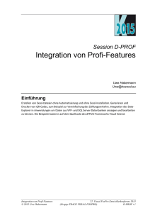 Integration von Profi-Features