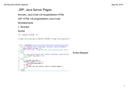JSP: Java Server Pages