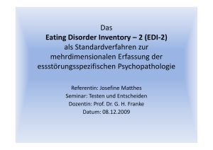 Das Eating Disorder Inventory – 2 (EDI-2) als - Franke