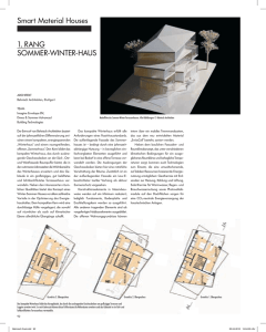 Smart Material Houses 1. Rang SOMMER-WInTER-HaUS