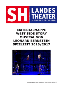 MATERIALMAPPE WEST SIDE STORY MUSICAL VON LEONARD