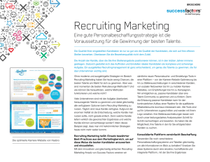 Datenblatt zu Recruiting Marketing