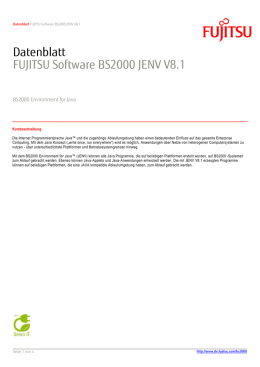 Datenblatt: FUJITSU Software BS2000 JENV V8.1