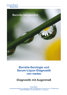 Borrelia-Serologie und Serum-Liquor-Diagnostik - medac