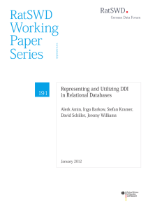 Representing and Utilizing DDI in Relational Databases