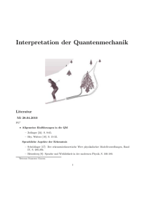 Interpretation der Quantenmechanik