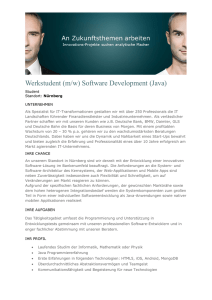 Werkstudent (m/w) Software Development (Java)