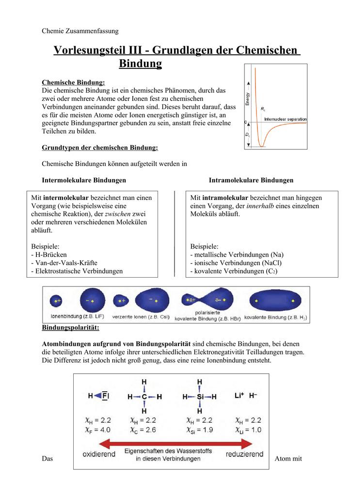 Chemie Zusammenfassung Fsmb