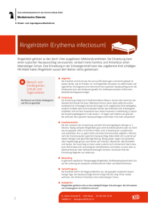 Ringelröteln (Erythema infectiosum)