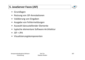 5. JavaServer Faces (JSF)