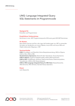 LINQ- Language Integrated Query SQL Statements - Das SAB-Team