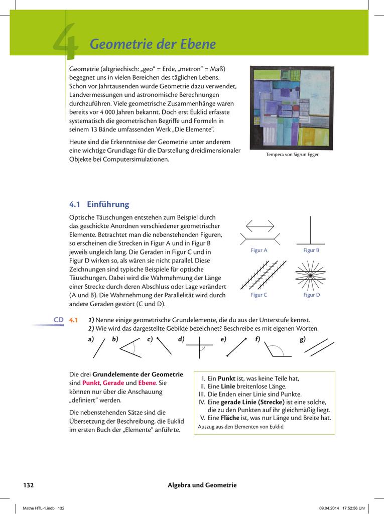 Geometrie der Ebene
