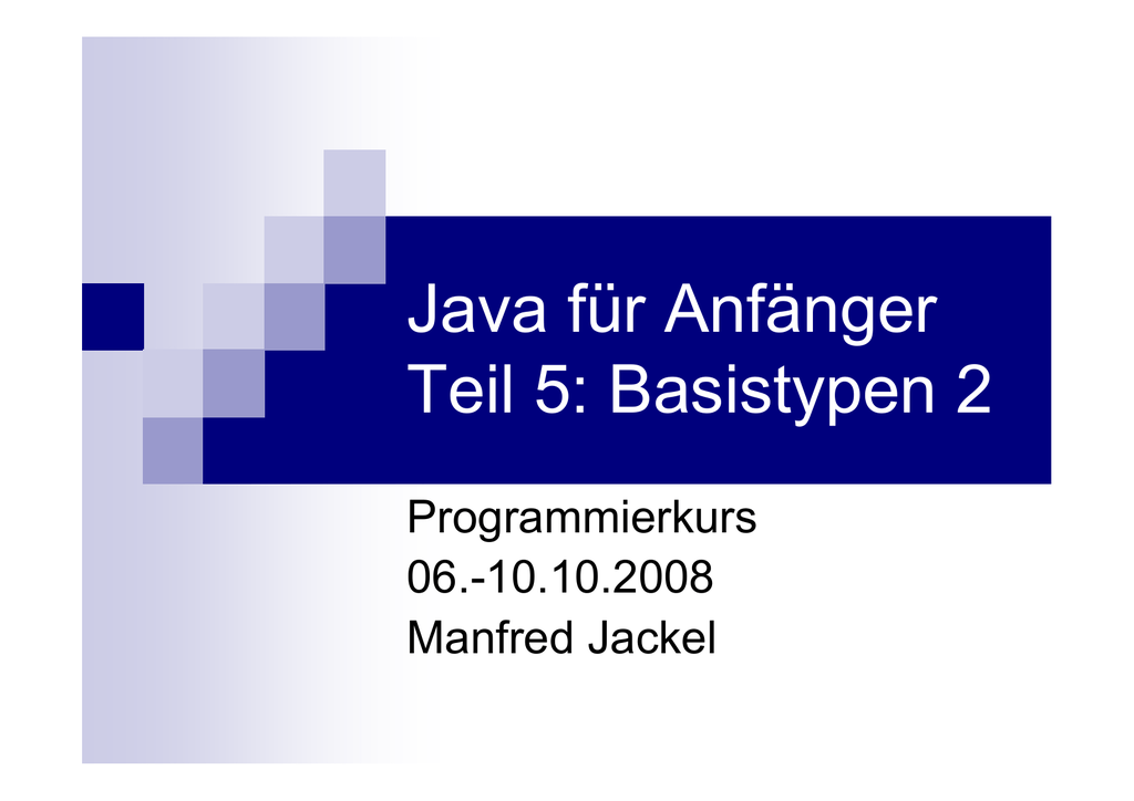 Java für Anfänger