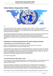 United Nations Organization (UNO)