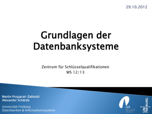MapReduce Introduction - Datenbanken und Informationssysteme