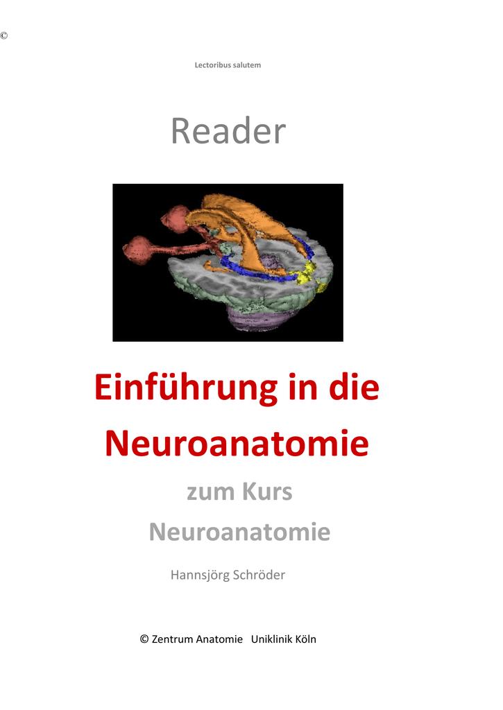 Reader Neuroanatomie - Zentrum Anatomie