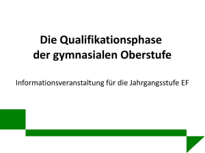 in der Qualifikationsphase