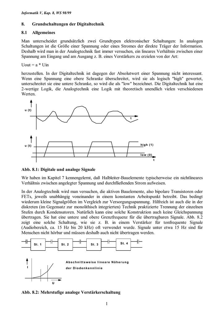 1 8. Grundschaltungen der Digitaltechnik 8.1 Allgemeines Man