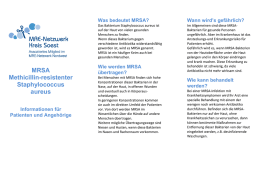 Patienteninformation zu MRSA