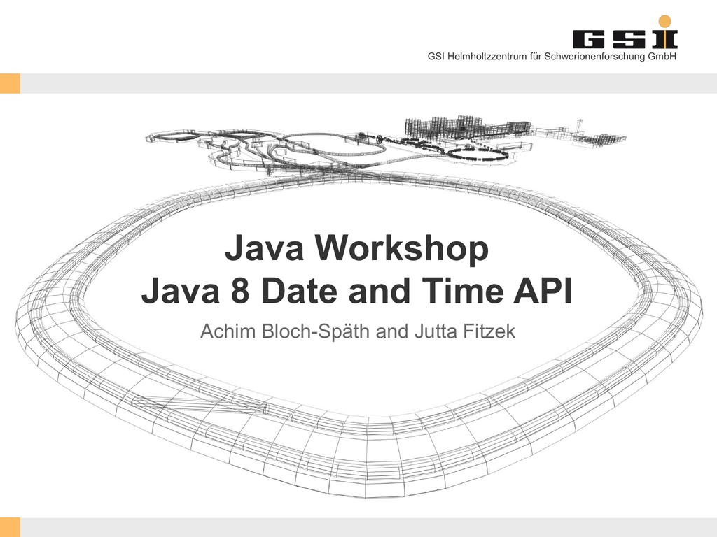 Java Workshop Java 8 Date and Time API