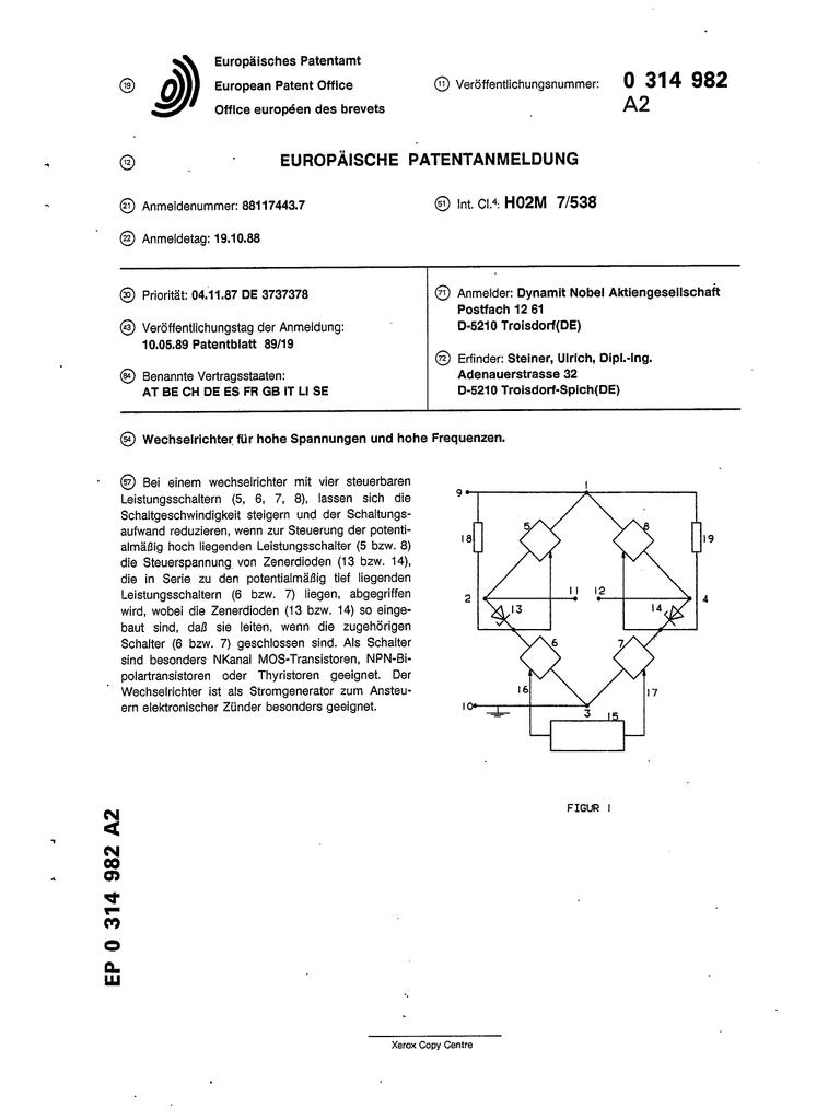 Wechselrichter für hohe Spannungen und hohe Frequenzen