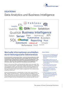 Data Analytics und Business Intelligence