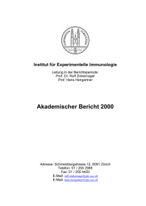 Akademischer Bericht 2000 - Institute of Experimental Immunology