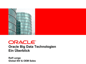 Oracle Big Data Technologien - ein Überblick