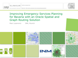 Improving Emergency Services with Oracle Spatial and Graph
