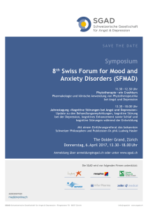 Symposium 8 th Swiss Forum for Mood and - congress