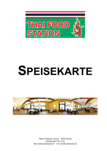 SPEISEKARTE - Thai Food Station