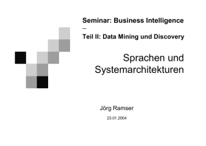 Data Mining und Discovery