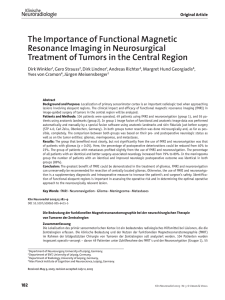 The Importance of Functional Magnetic Resonance Imaging in
