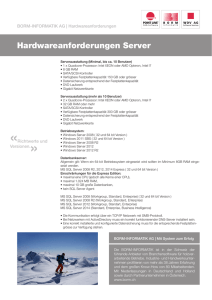 Hardwareanforderungen Server
