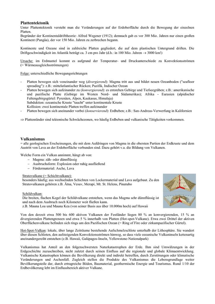 Plattentektonik Vulkanismus