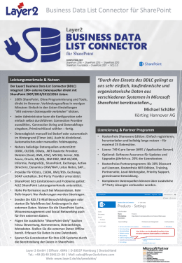 Business Data List Connector für SharePoint