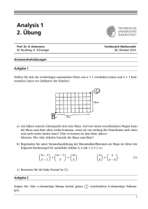 Analysis 1 2. Übung - Mathematik@TU