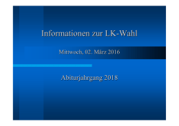 Informationen LK-Wahl Abi 2018 - Willy-Brandt