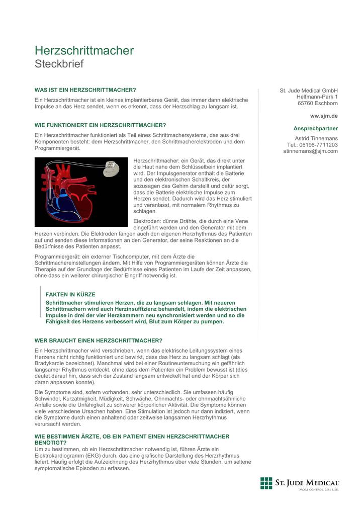 Herzschrittmacher - St. Jude Medical