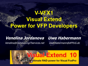 Visual Extend – Power for VFP Developers - dFPUG