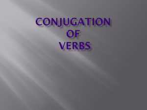 Conjugate Regular Verbs