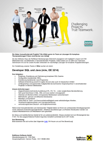 Developer SQL und Java (m/w, OE 3214)