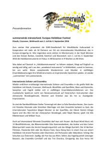 "Presse-Informationen zu ""summerwinds münsterland 2016"""