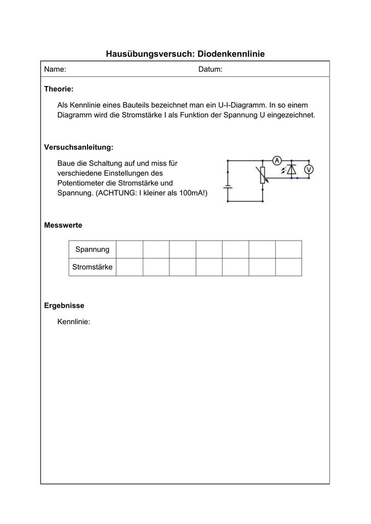 Niedlich Drahtstärke Stromstärke Diagramm Bilder - Elektrische ...