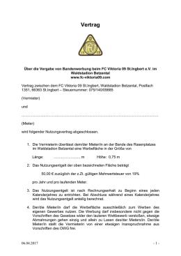 Mietvertrag Fotoautomat Rheinhessen