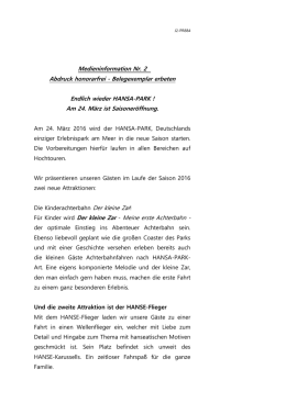 J2-PR884 Medieninformation Nr. 2 Abdruck honorarfrei