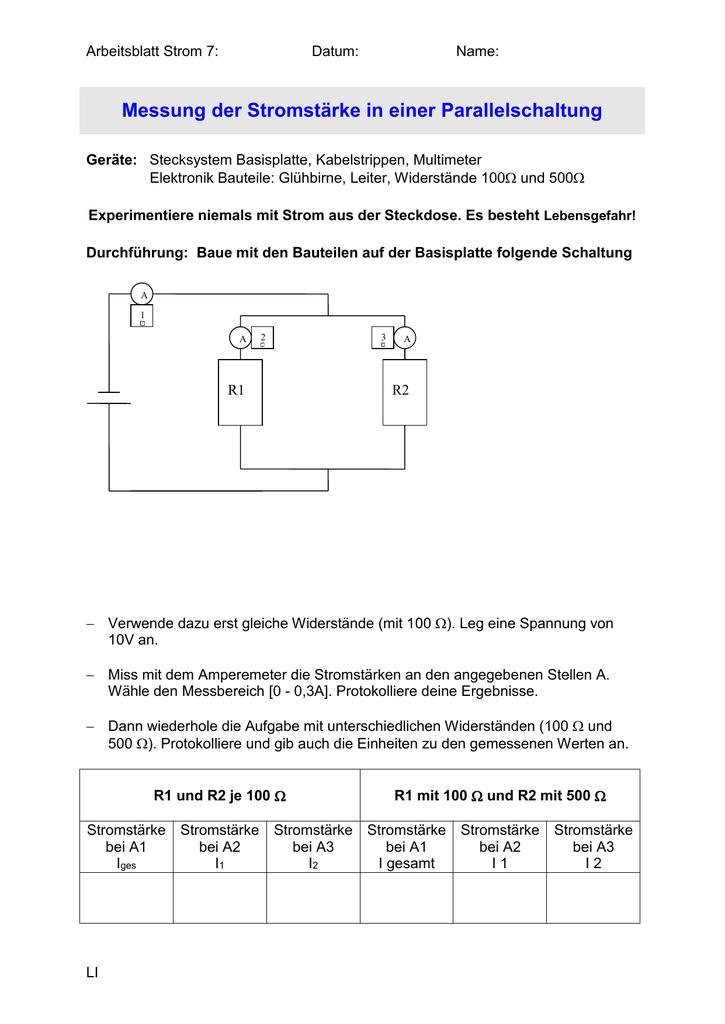 Ziemlich Stromstärkenleiter Ideen - Elektrische Schaltplan-Ideen ...