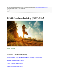 DINO Outdoor-Training (DOT)-Mi-2 : Dino macht FIT!