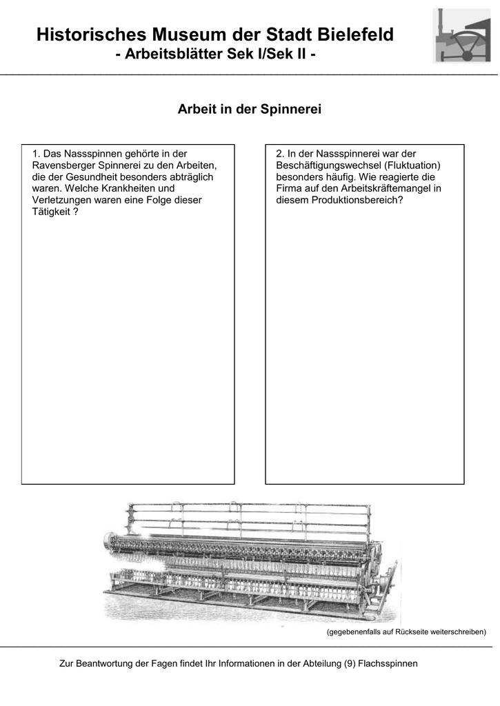 Arbeitsblatt - Bielefeld - Historisches Museum Bielefeld